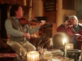 The Irish Fiddler, Frankie Gavin, entertaining Jeremy Irons and guests on a stormy evening at Kilcoe