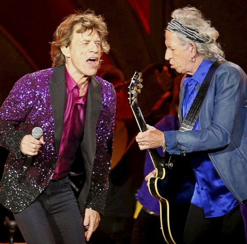 Mick Jagger and Mr. Richards in May. Credit Mike Blake/Reuters
