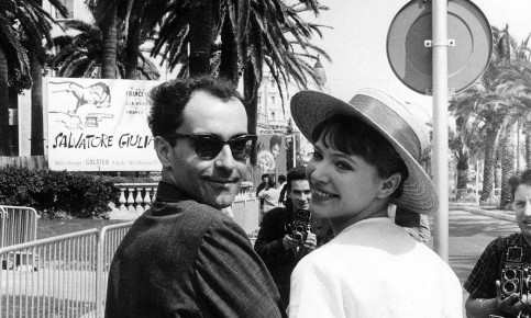Jean-Luc Godard and Anna Karina at the Cannes film festival in 1962 Photograph: Sipa Press/Rex/Shutterstock