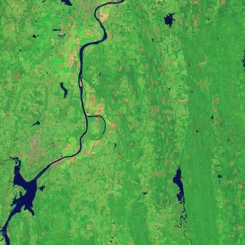 Arkansas river and the Holla Bend Wildlife Refuge