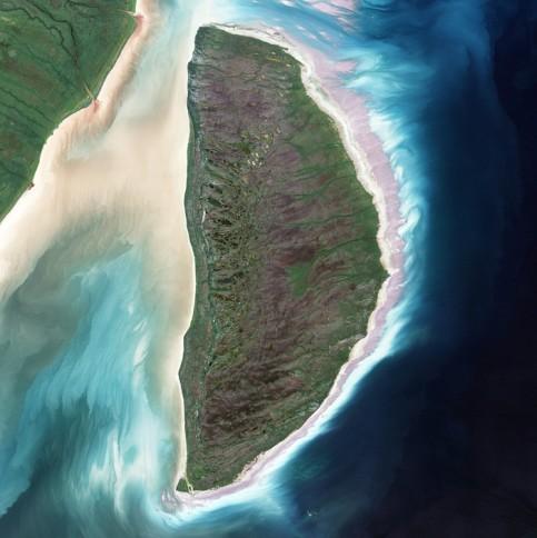 Akimiski island in James Bay, Canada