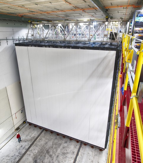 The NOvA experiment contains 28 detector blocks 51 feet tall and 51 feet wide, in Minnesota. The 503-mile trip from Fermi National Accelerator Laboratory in Illinois takes a neutrino 2.7 milliseconds. Fermilab