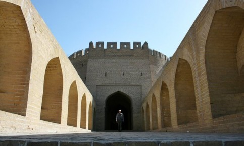 The last remaining gate of the walls that once surrounded Baghdad. Photograph: Mohammed Jalil/EPA