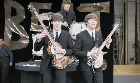 Paul McCartney and John Lennon on the set of The Ed Sullivan Show (AP )