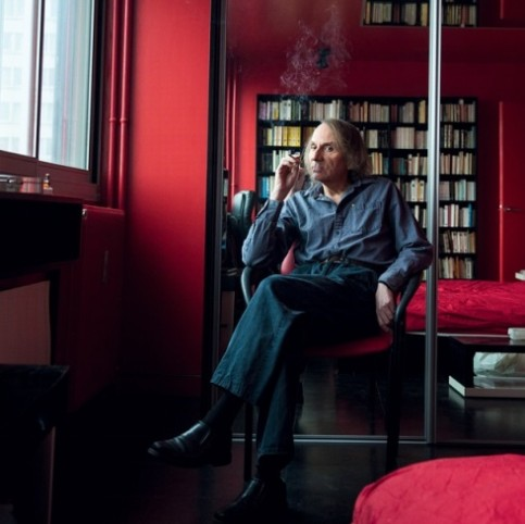 'It's not my role to be responsible' … Houellebecq in his Paris flat. Philippe Matsas © Flammarion Photograph: Philippe Matsas © Flammarion