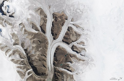 Glaciers at the Sirmilik national park in Mittimatalik, Canada