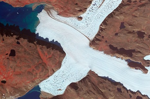 Letter X: north-west corner of Leidy glacier, Greenland