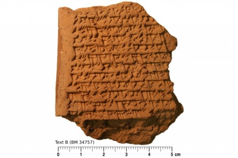 The Ancient Babylonian tablet, written in cuneiform script, contains geometric calculations used to track the motions of Jupiter rewriting the history of astronomy along the way.