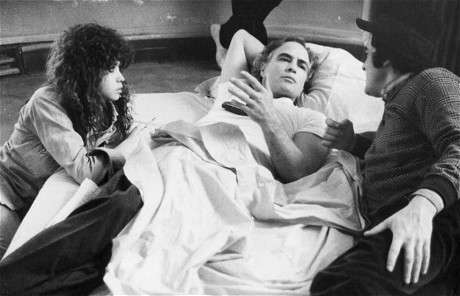 American actor Marlon Brando with actress Marie Schneider and Bernardo Bertolucci in Bertolucci's film 'Last Tango In Paris'. (Getty Images)