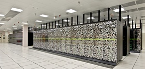 The bank of supercomputers at the Max Planck Institute for Astrophysics in Munich. GENCI/TGCC-CEA