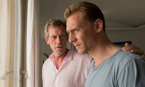 Hugh Laurie (left) as Roper and Tom Hiddleston as Jonathan Pine in The Night Manager. Photograph: BBC/The Ink Factory/Des Willie