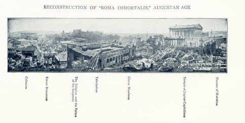 An 1899 illustration depicting Rome in the time of the Emperor Augustus. Illustration: Alamy