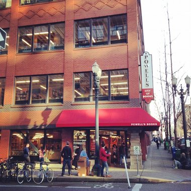 Paradise for bibliophiles ... A corner of Powell's. Photograph: Amanda Katelin/GuardianWitness