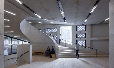 Unexpected places … the stairwells with seating areas Photograph: Iwan Baan/PR Image