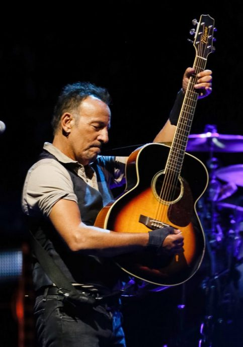 "Springsteen live in September 2016. ""You're compressing years into moments,"" he says of being onstage. Keith Bedford/Getty"