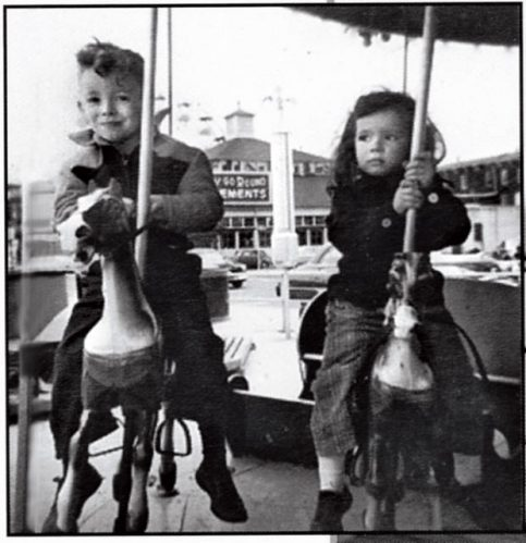 Springsteen with his sister Ginny in his future musical home of Asbury Park, 1954. Billy Smith Collection