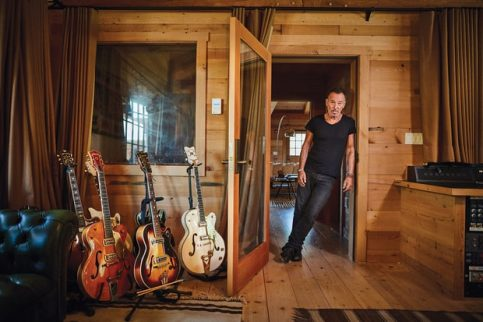 "Springsteen at his home studio in New Jersey. ""I happened to be good at writing. I wasn't very good at much else in school."" Danny Clinch for Rolling Stone"