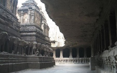 The Kailasa Temple: the world's largest monolithic structure carved from one piece of rock